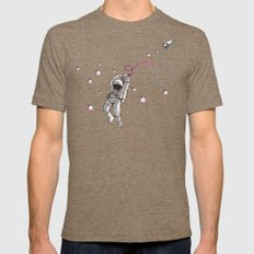 Hangstronaut Mens Fitted Tee Tri-Coffee SMALL