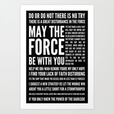 Star Wars Quotes Art Print