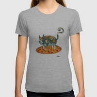 Pepperoni, Black Olives … Womens Fitted Tee Athletic Grey SMALL