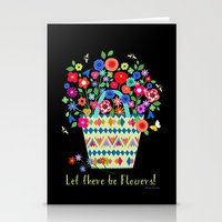 let there be flowers Stationery Cards