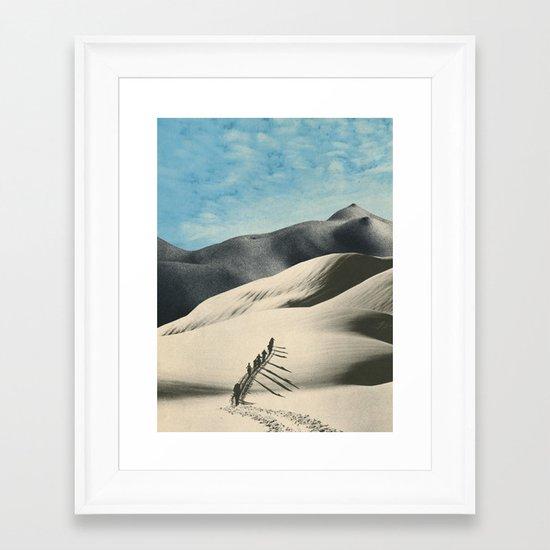 The Big Push Framed Art Print
