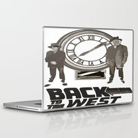 back to the future Laptop & iPad Skins featuring BACK TO THE FUTURE by Rocky Rock