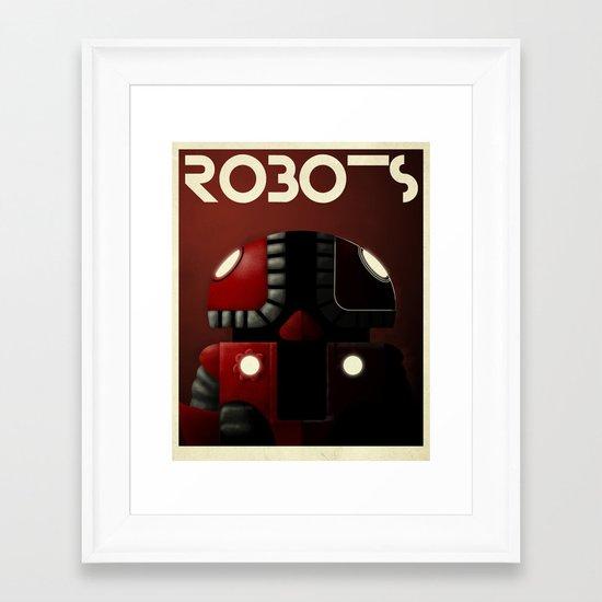 Robots - Bibop Framed Art Print