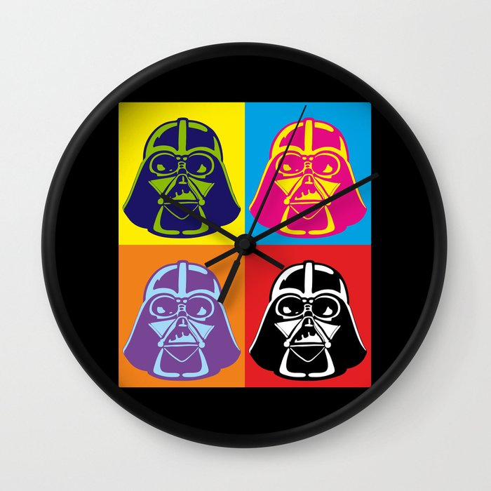 Darth Vader Pop Art Star Wars Wall Clock By Yiannis