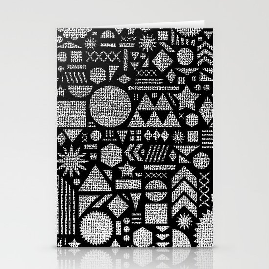 Modern Elements with Black. Stationery Card
