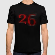 26 SMALL Mens Fitted Tee Black