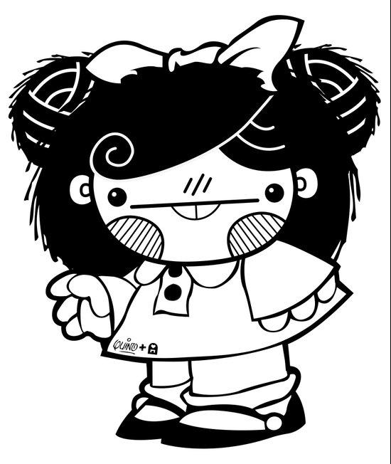 Mafalda Chestnut Girl Art Print