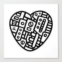 Iron heart (B&W Edition) - PM Canvas Print