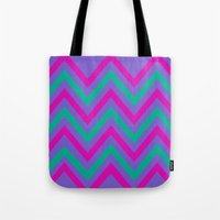 Chevron Berry Blast Tote Bag
