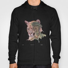 Big Cats of War illustrated: Portrait Hoody