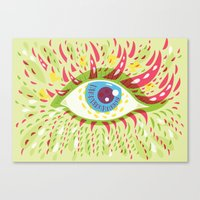 Front Looking Psychedelic Eye Canvas Print