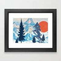 Pine & Sun Framed Art Print