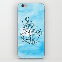 Live A Salty Life - Blue iPhone & iPod Skin