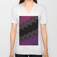 Fractal Layered Lace  Unisex V-Neck