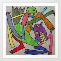 Hors And Man Art Print