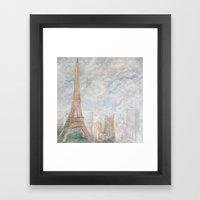 Poetic Paris Framed Art Print
