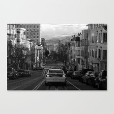 Black and White San Francisco Street Photography Canvas Print