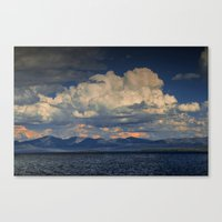 Billowing Clouds over Yellowstone Lake Canvas Print