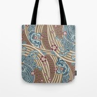 Waves Of Tradition-olive Tote Bag