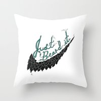 Just Beard it Throw Pillow