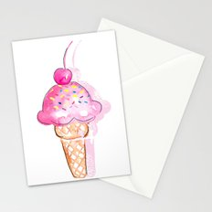 Ice Cream Stationery Cards
