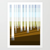 Minimal Finland (silver birch forest) Art Print