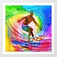 Surf Style Art Print