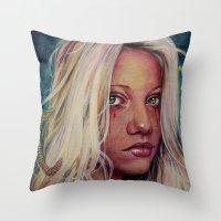 Madame M Throw Pillow