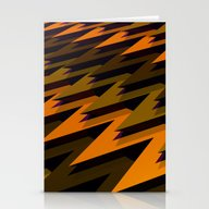 3D Chevrons Stationery Cards