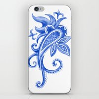Paisley: Blue China Comb… iPhone & iPod Skin