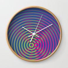 SoundWaves Lime/Magenta Wall Clock
