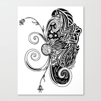 Spirit Of Spring B&W Canvas Print