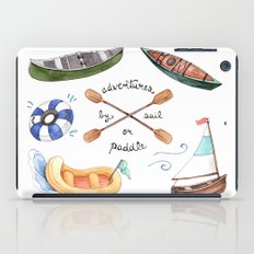 Adventures by Sail or Paddle iPad Case
