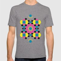 Arabesque CMYK Mens Fitted Tee Tri-Grey SMALL