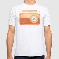 Radio Silence Mens Fitted Tee Ash Grey SMALL