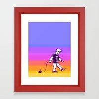 Growing Up 8bit Framed Art Print
