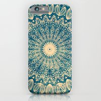 BLUE ORGANIC MANDALA iPhone 6 Slim Case