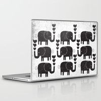 elephants Laptop & iPad Skins featuring ELEPHANTS by Matthew Taylor Wilson