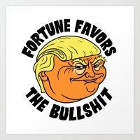 Fortune Favors The Bulls… Art Print