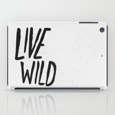 Live Wild Typography iPad Case