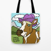 Cowgirl With Hat And Ban… Tote Bag