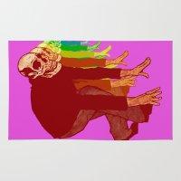 The Racing Rainbow Skulls Rug