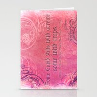 Cupid Kills - Shakespeare Love Quote - Much Ado Stationery Cards