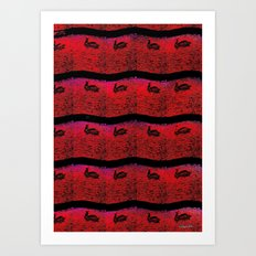Pelican Pattern 2 (d) Art Print
