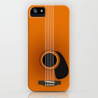 iPhone 5s & iPhone 5 Cases featuring guitar music  by mark ashkenazi