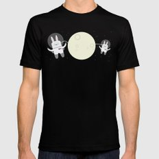 Astro Bunnies SMALL Mens Fitted Tee Black