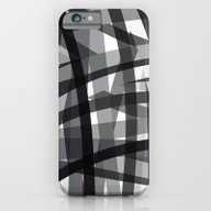 Grey Crossed Stripes iPhone 6 Slim Case