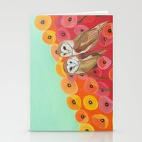 Owls In A Poppy Field Stationery Cards