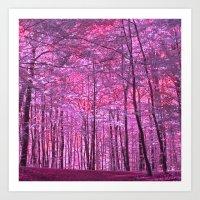 Purple Forest V Art Print