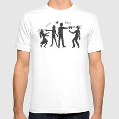 Zombie Hunting III Mens Fitted Tee White SMALL